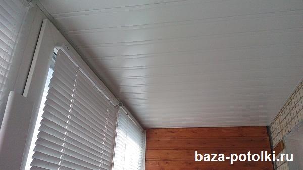 Потолок на балкон, лоджию. реечные алюминиевые потолки..